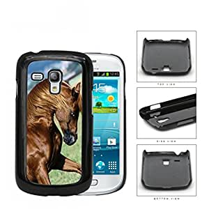 Galloping Thoroughbred Horse Hard Plastic Snap On Cell Phone Case Samsung Galaxy S3 SIII Mini I8200