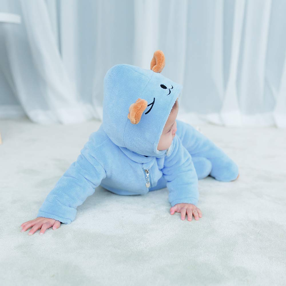 mikistory Bambino Infantile Neonato Animale Inverno Cappuccio Onesies Snowsuit