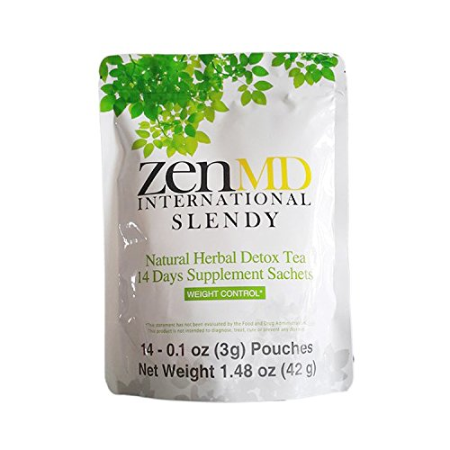 ZEN SLENDY Flat Tummy Weight Loss Tea - 14 Days Natural Healthy Herbal Detox & Colon Cleanse for Slimming and Lose Belly (Where To Buy Red Contacts)