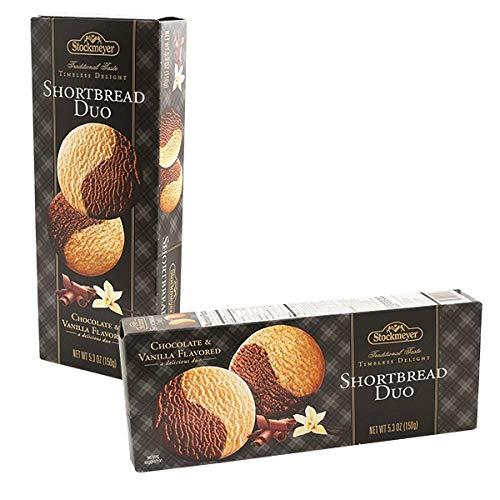 Stockmeyer Shortbread Duo Cookies - Chocolate & Vanilla Together! - 5.3 Oz