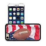 MSD Premium Apple iPhone 6 iPhone 6S Aluminum Backplate Bumper Snap Case iPhone6 IMAGE ID: 7909526 Footballl on an American flag shows a partiotic spirit