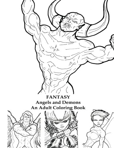amazoncom fantasy angels and demons an adult coloring book 9781533050137 eric l david books - Coloring Book Angels