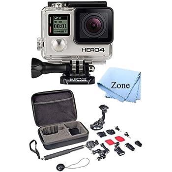 GoPro HERO 4 Black Edition 12MP Waterproof Sports Action Starter Camera Bundle