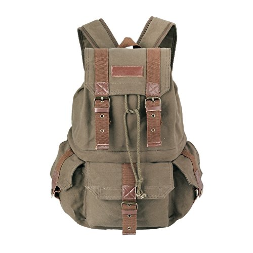 Koolertron Canvas SLR Camera Backpack With Waterproof Cover