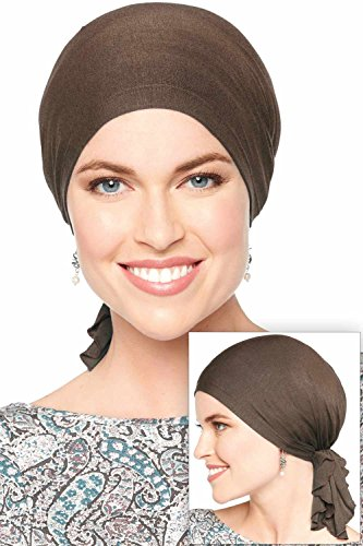 Slip-On Solid Slinky Pre Tied Head Scarf - Scarves for Women with Chemo Luxury Bamboo - (Slinky Cap)