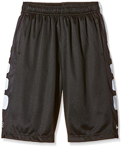 Boy's Nike Elite Stripe Basketball Shorts Black/White Size Small