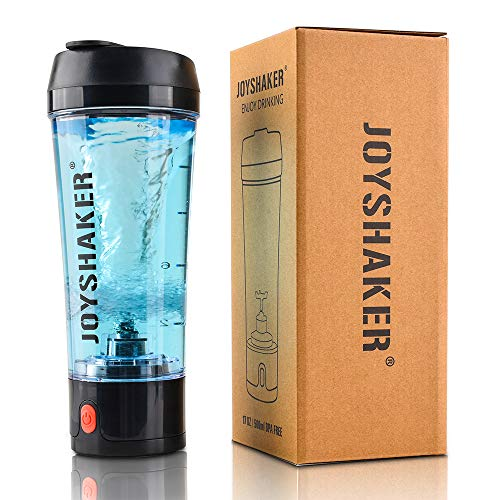 - JOYSHAKER Stylish Electric Shaker Bottle - Smart Automatic Shaker Mixer with Rechargeable Electric USB for Easily Make a Variety of Drinks - Removable and Easy to Clean Protein Shaker Bottle (Black)