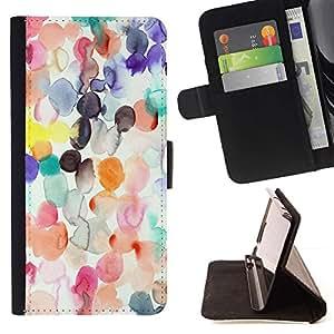 """Spots Acuarela Pastel Abstract Art Kids"""" - Modelo colorido cuero de la carpeta del tirón del caso cubierta piel Holster Funda protecció Para LG G4 Stylus / G Stylo / LS770 H635 H630D H631 MS631 H635 H540 H630D H542"""