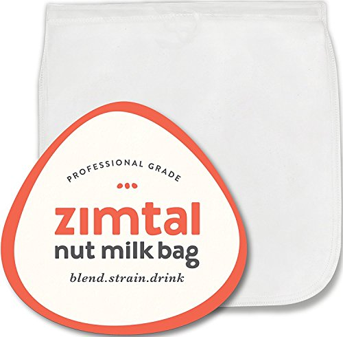 Premium Quality - Nut Milk Bag - XL - 13  X 13  - Smoothie Strainer - Cold Brew Coffee Maker- Free Recipes Included - Reusable - Filter Bag - Professional Industry - Largest on Amazon