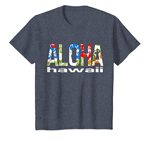 Aloha Hawaiian T-shirt Flowers Hawaii Funny Vacation Surf
