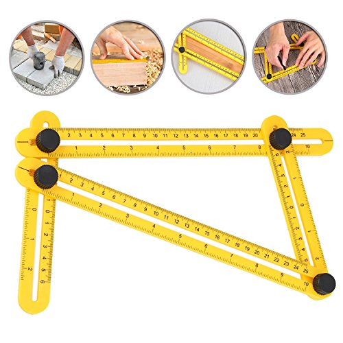 Frienda Angleizer Template Tool Multi-Angle Finder Ruler Layout Tools for Handymen, Builders, Craftsmen, Yellow (1 Pack) by Frienda