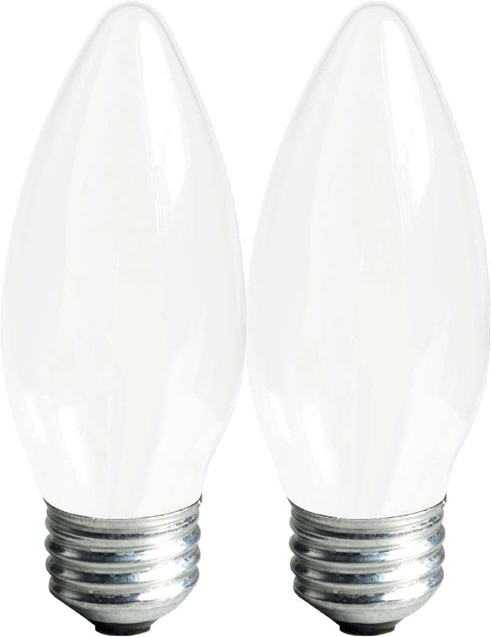 GE Lighting 25043 Frosted Finish Light Bulb Dimmable LED Soft White Decorative 4 (40-Watt Replacement), 300-Lumen Medium Base Blunt Tip, 2-Pack