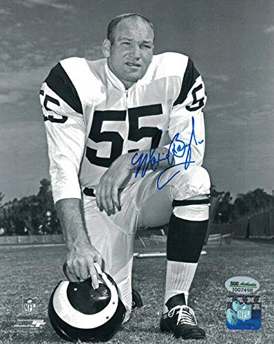 (Maxie Baughan Autographed Philadelphia Eagles 8x10 Photo SGC)
