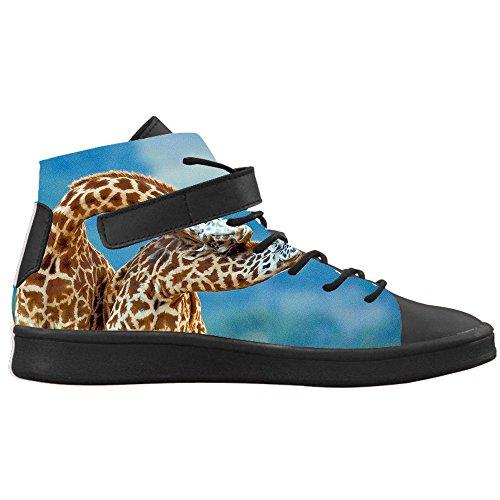Scarpe Alla E Alte Caviglia Colletto Nero Sneakers Design di Traspirante Donna Selvatici CHEESE Round Toe Giraffa Animali Lyra Personalizzato con AUq04wAdv