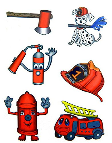Premium Firefighter Tattoos, Party Favors, Temporary Tattoo