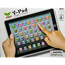 Cooplay Black Ypad Pad Touch Screen Learning English Tablet Study Toys Educational Music Computer Electronic Spelling Letters Words Quiz Teaches ipad For Kids Baby Gift