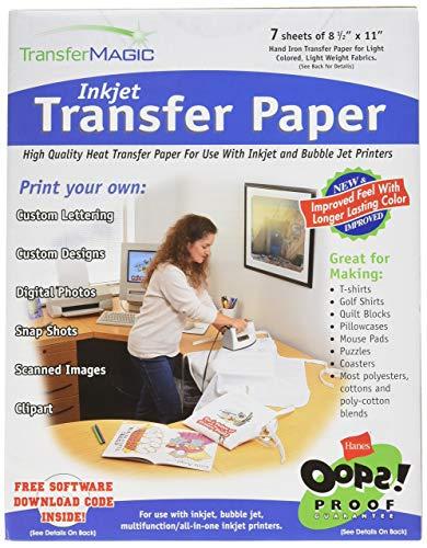 Transfer Magic Ink Jet Transfer Paper-8-1/2 X11 7/Pkg (Windows 10 Hp Printer Won T Print)