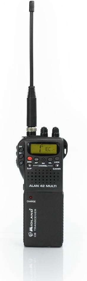 Midland Alan 42 Multi CB portátil Am/FM Negro