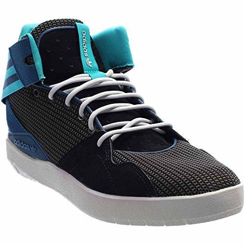 adidas Originals Herren Crestwood Mid-Top Fashion Sneakers Schwarz / Shock  Green / Dunkelgrau Heather