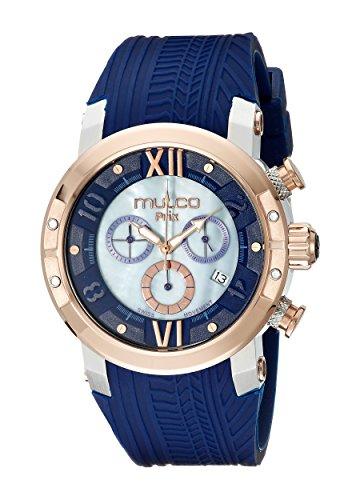MULCO Unisex MW5-3219-043 Prix Tire Analog Display Swiss Quartz Blue Watch