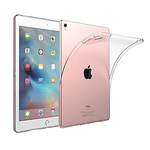 (iPad Pro Case, iCoverCase Ultra-thin Silicone Back Cover Clear Plain Soft TPU Gel Rubber Skin Case Protector Shell for Apple iPad Pro 12.9