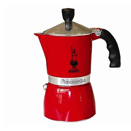 Bialetti Fiammetta - Cafetera (Estufa, Rojo, Aluminio)
