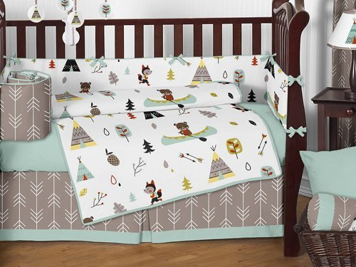Sweet Jojo Designs 9 Piece Outdoor Adventure Nature Fox