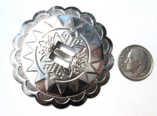 "Conchos 2"" Round Classic Western Sun Design; Silver, 12 Pieces #50778"