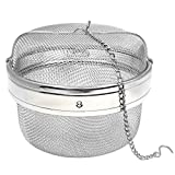Happy Sales HSSSTB5, Stainless Steel Spice/Tea Infuser, Strainer, Filter- 5.25 INCH