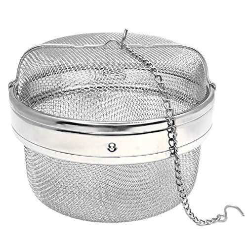 Happy Sales HSSSTB5, Stainless Steel Spice/Tea Infuser, Strainer, Filter- 5.25 INCH by Happy Sales