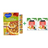 Barbara's Bakery, Multigrain Squarefuls Cereal, Maple Brown Sugar, 12 oz (340 g)( 5 PACK )+ ( 2 PACK ) Stoneridge Orchards, Sliced Peaches, Dried Tree-Ripened Summer Peaches, 4 oz (113 g)