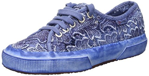 Superga 2750-Macramedyedw, Zapatillas de Deporte para Mujer Blu (Navy)