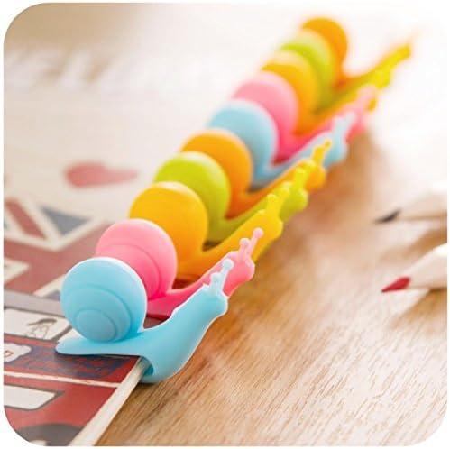 Caracol Copa Etiqueta para Hanging T/é Bolsa Caracoles coloridos regalos de silicona Clip Vasos Gadgets-color al azar