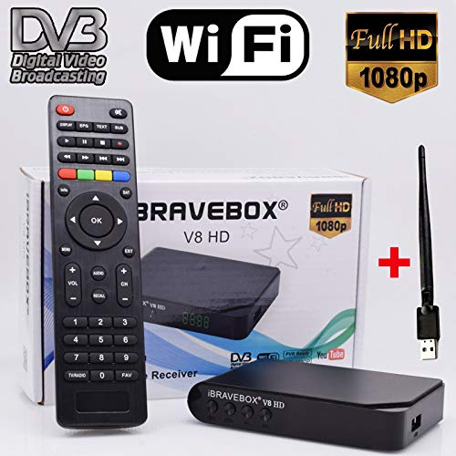 Coodio Satellite Receiver iBRAVEBOX V8 HD DVB-S/S2 Full HD WiFi Satellite Finder