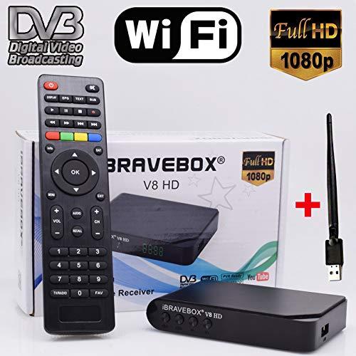 LFJNET Satellite Receiver HD DVB-S/S2 Full HD WiFi Satellite Finder,DVB-S2 Digital Tv Box DVB-S2/S Clear TV Tuner Sat Decoder