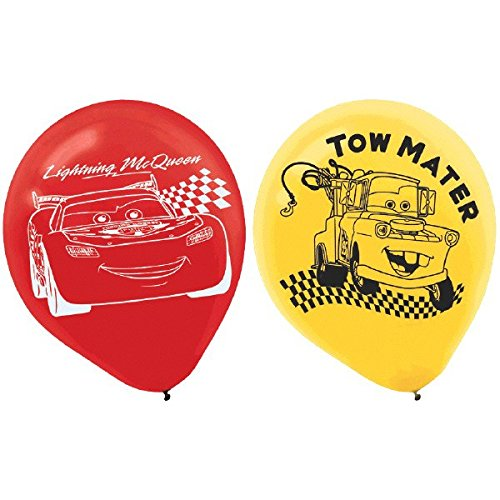 AmscanDisney Cars Formula Racer Birthday Party Printed Balloons Decoration (6 Pack), 12