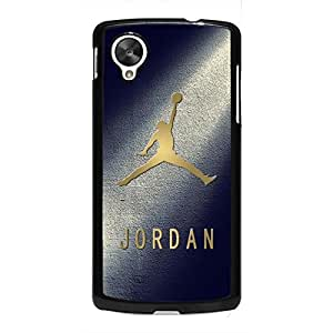 Custom Stylish Jordan Logo Phone Case Cover For Google Nexus 5 Black Hard Case AIR20