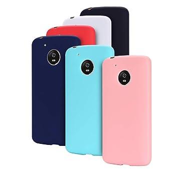 MOSORIS [ 6 Pack Fundas Silicona Motorola Moto G5, Carcasa ...