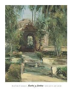 Jose Luis Castrillo – Fuentes y Jardines Artistica di Stampa (88,90 x 111,76 cm)