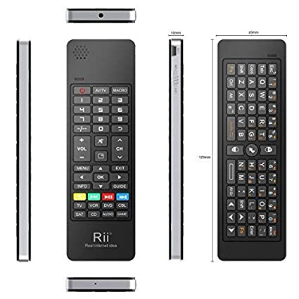 Rii K13 5 in 1 Multifunction Mini Wireless Keyboard with Fly Mouse, IR  Learning Remote Control, Speaker and Microphone for PC, Smart TV Android  Box
