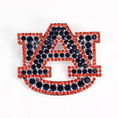 Seasons Jewelry Auburn Crystal Logo Pin (College Logo University Pin)