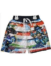 Skylanders Swap Force Little Boys White Red Character Print Swim Wear Shorts 4T-7
