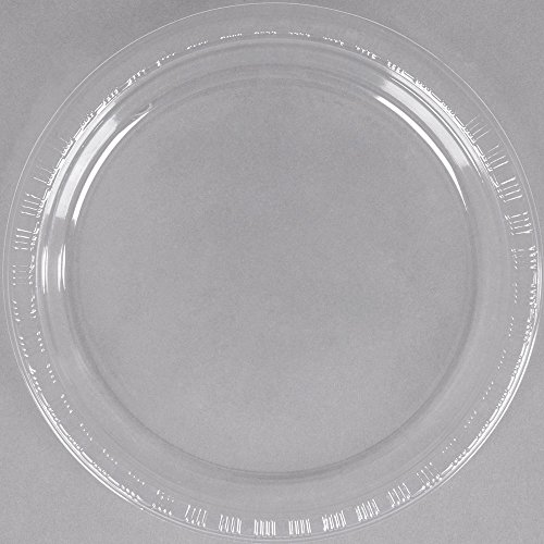Creative Converting 28114111B 7'' Clear Plastic Plate - 600/Case by Creative Converting