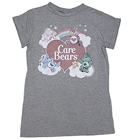 df4c3e924f0068 Amazon.com  Womens Vintage Care Bears Rolled Sleeve Boyfriend T Shirt   Clothing