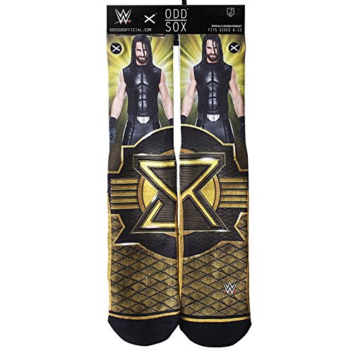 Odd Sox Men's WWE Seth Rollins Crew Socks by Odd Sox