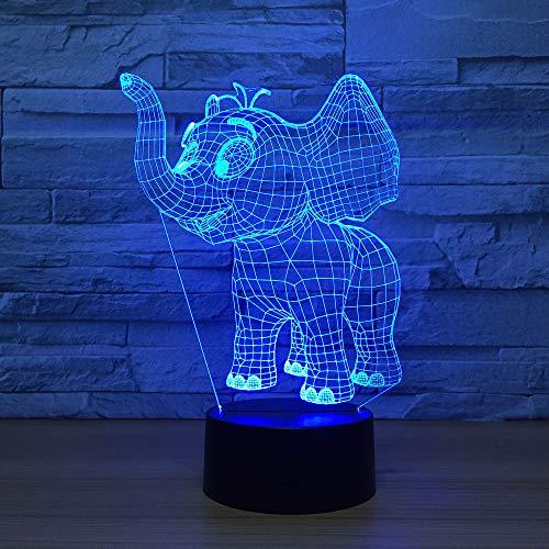 Environmental Phillips Toilet (RTYHI Elephant 3D Led Night Lamp Toilet Light Lamparas Lava Lamp Cartoon 3D Acrylic Night Lamp Light Children's Bedroom Bedside)