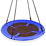 KINDEN Giant 1M/40 Saucer Spinner Swing Round – Tree Swing, Flying Swing with Friends, Family Swing, Detachable Swing, Easy Installation,330lbs Capacity,Blue(Colors May Vary)