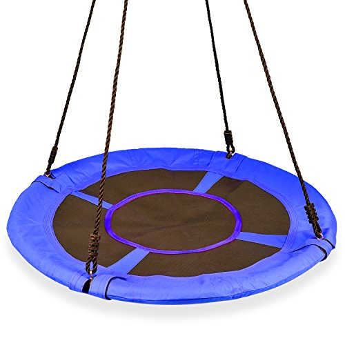 KINDEN Giant 1M/40 Saucer Spinner Swing Round – Tree Swing, Flying Swing with Friends, Family Swing, Detachable Swing, Easy Installation,330lbs Capacity,Blue(Colors May Vary) For Sale