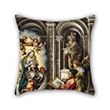 loveloveu throw pillow case of oil painting Jan Gossaert - St. Luke Painting the Madonna,for chair,car,dinning room,teens boys,boys,wedding 18 x 18 inches / 45 by 45 cm(double sides)