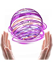 Flying Ball Toys Colorful RGB Hover Ball 360° Rotating Flying Toy Mini Boomerang Dones For Kids Flying Spinner Gift For Boys Girls Outdoor Sport Game